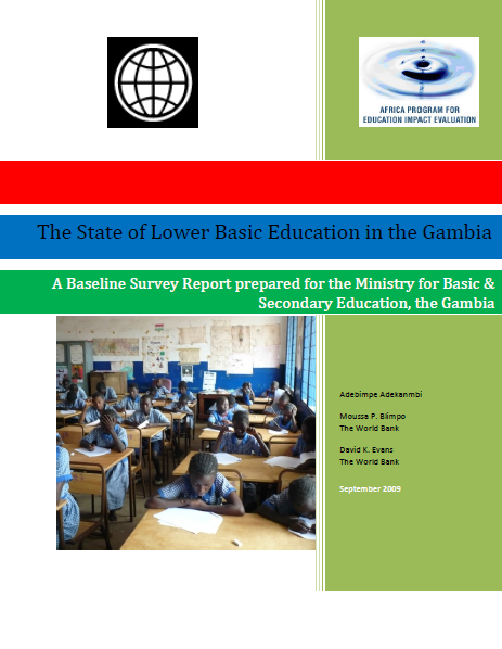 Baseline Survey: The State of Lower Basic Education in the Gambia (2009)